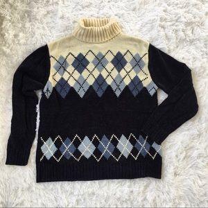 Designers Studio argyle sweater size medium